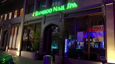 Exterior-of-a-day-spa-or-nail-salon-at-night