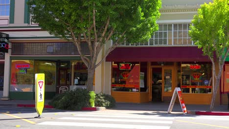 Establishing-shot-of-a-small-retail-storefront-business-district-1