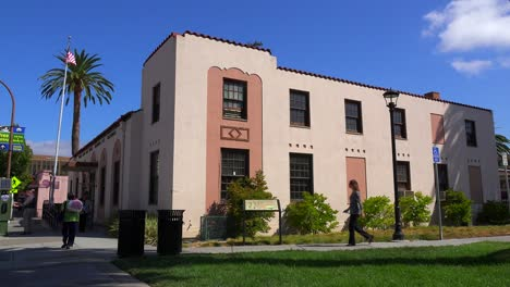 A-small-post-office-or-government-building-in-a-California-town