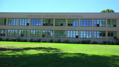 Establishing-pan-shot-of-a-typical-American-public-school