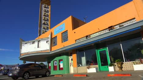 An-establishing-shot-of-an-old-abandoned-movie-theater