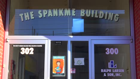 An-establishing-shot-of-the-strangely-named-Spankme-Building-in-Palo-Alto-California