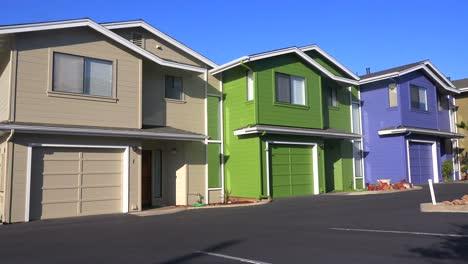 Multicolored-condominiums-in-a-residential-neighborhood