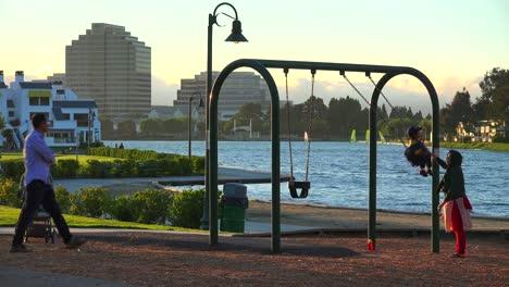 Families-exercise-on-a-playground-in-a-new-suburban-neighborhood-near-Palo-Alto-California