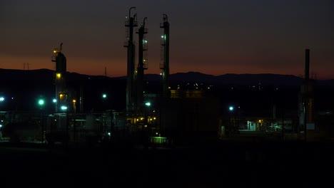 Establishing-shots-of-an-oil-refinery-at-night-2