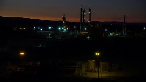 Establishing-shots-of-an-oil-refinery-at-night-3