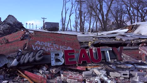 The-ruins-of-a-destroyed-beauty-salon-following-rioting-in-Ferguson-Missouri-make-an-ironic-statement-1