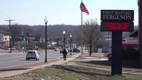 Establishing-shots-of-Ferguson-Missouri-scene-of-severe-racial-tensions-in-2014-1