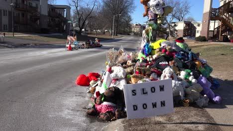 A-makeshift-memorial-for-Michael-Brown-shooting-victim-in-Ferguson-Missouri