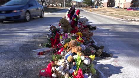 A-makeshift-memorial-for-Michael-Brown-shooting-victim-in-Ferguson-Missouri-2