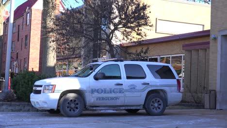 Establecimiento-De-Tiro-De-La-Estación-De-Policía-En-Ferguson-Missouri