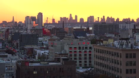 A-dusk-view-across-the-Brooklyn-and-Queens-skyline-in-New-York-City-2