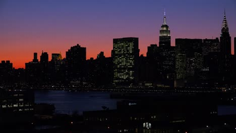 Beautiful-deep-dusk-shot-of-the-Manhattan-new-York-city-skyline-at-night