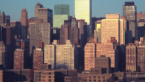 A-view-of-high-rises-and-apartments-along-the-Manhattan-New-York-City-skyline