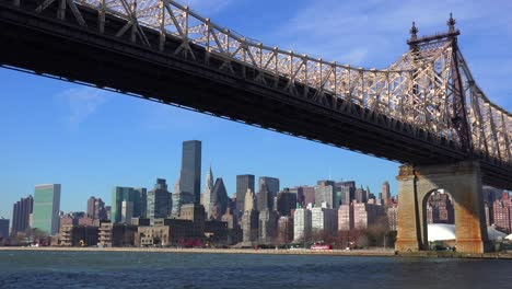 Low-angle-view-of-the-Queensboro-Bridge-with-the-New-York-skyline-background-1