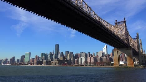 Low-angle-view-of-the-Queensboro-Bridge-with-the-New-York-skyline-background-2