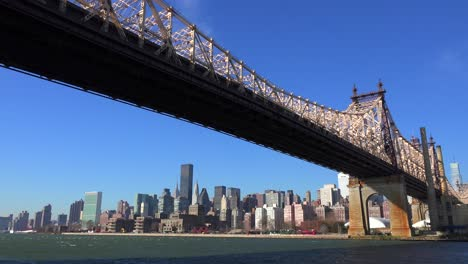 Low-angle-view-of-the-Queensboro-Bridge-with-the-New-York-skyline-background-5
