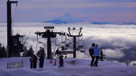 Skiers-enjoy-the-slops-of-Mt-Hood-Oregon-with-Mt-Jefferson-in-the-distance-2