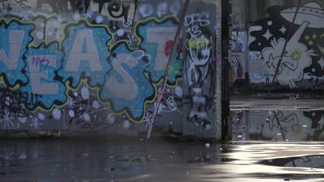 Urban-graffiti-adorns-an-abandoned-building-in-an-urban-area