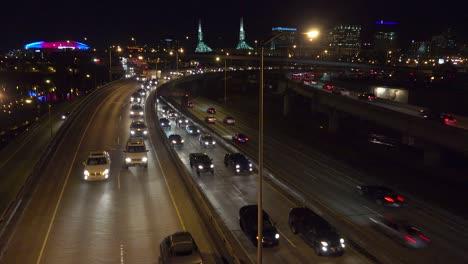 Good-footage-of-freeway-or-highway-traffic-at-night-near-an-interchange-in-Portland-Oregon-2