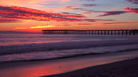 A-gorgeous-coastline-shot-along-the-Central-California-coast-with-the-Ventura-pier-distant