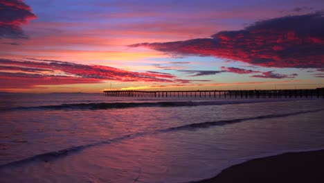 A-gorgeous-sunset-coastline-shot-along-the-Central-California-coast-with-the-Ventura-pier-distant-1