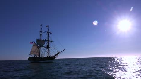 A-tall-masted-clipper-ship-sails-on-the-high-seas-2