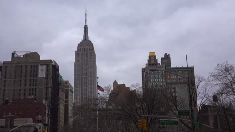 Time-lapse-of-clouds-passing-the-Empire-State-Building-in-New-York-city