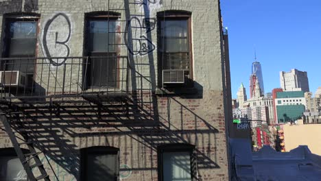 Establishing-high-angle-shot-of-an-apartment-in-the-Chinatown-district