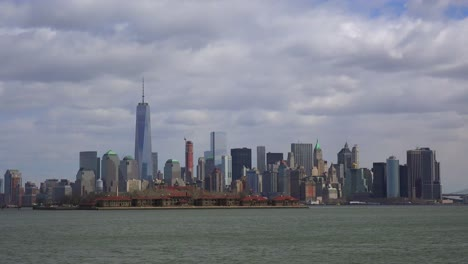 An-extreme-wide-angle-of-New-York-City-with-clouds-overhead