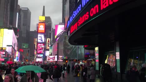 A-foggy-night-in-New-York-s-Times-Square