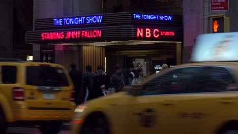 Establishing-shot-of-the-NBC-studios-at-Rockefeller-Center-and-the-Tonight-Show-with-Jimmy-Fallon