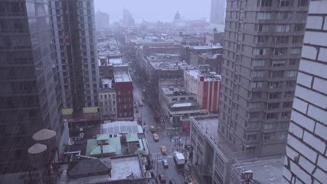 High-angle-over-Manhattan-New-York-with-heavy-rain-falling-1