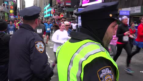 New-York-City-police-monitor-conditions-at-the-New-York-Marathon