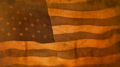 Una-Bandera-Estadounidense-En-Tonos-Sepia-Ondea-En-El-Viento-En-Stop-Motion