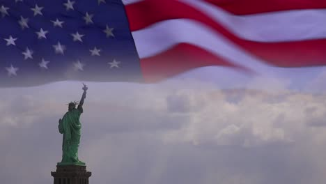 A-highly-patriotic-image-of-the-US-flag-and-Statue-of-Liberty-superimposed