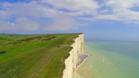 Beautiful-aerial-shot-of-the-White-Cliffs-of-Dover-at-Beachy-Head-England