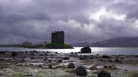 Castle-Stalker-in-Scotland-on-a-stoprmy-day