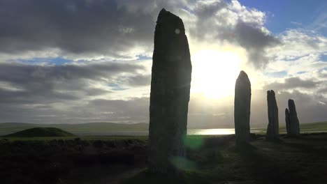 Time-lapse-shot-of-clouds-moving-over-sacred-Celtic-stones-on-the-Islands-of-Orkney-in-Northern-Scotland-1