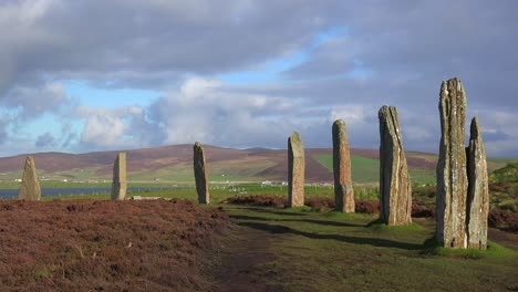 The-sacred-circular-Celtic-stones-on-the-Islands-of-Orkney-in-Northern-Scotland