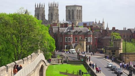 An-establishing-shot-of-the-town-of-York-England