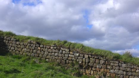 A-time-lapse-of-clouds-moving-behind-Hadrians-Wall-in-England