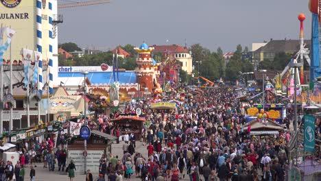 Huge-crowds-of-people-attend-Oktoberfest-in-Munich-Germany