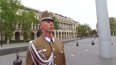 Ungarische-Palastwachen-Marschieren-Zusammen-In-Budapest-Ungarn