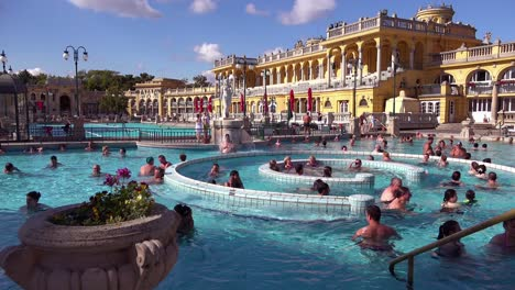 An-establishing-shot-of-a-beautiful-old-bath-and-spa-in-Budapest-Hungary