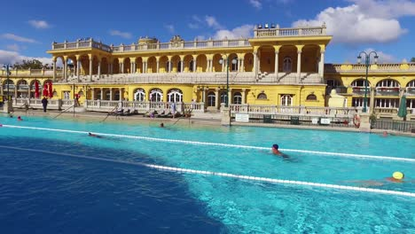 People-bathe-and-swim-in-a-beautiful-old-bath-and-spa-in-Budapest-Hungary-1