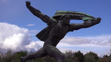 Old-Soviet-era-statues-rust-in-Memento-Park-outside-Budapest-Hungary