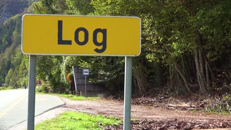 Die-Stadt-Log-In-Slowenien-Ist-Passend-Benannt