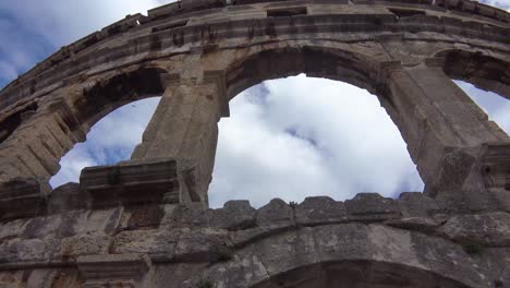 View-looking-up-at-the-amphitheater-in-Pula-Croatia