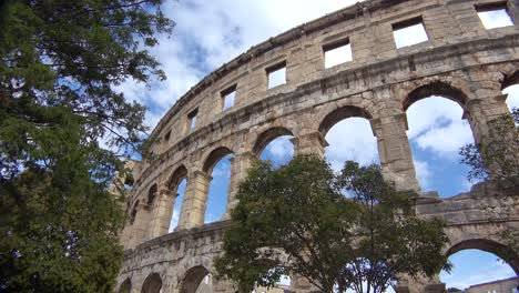 View-looking-up-at-the-remarkable-amphitheater-in-Pula-Croatia